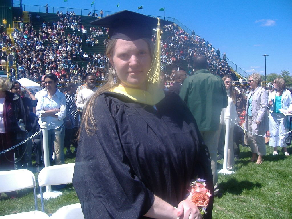 Sonya on Wayne State's graduation field