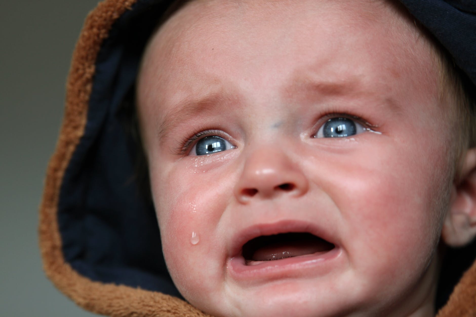 a crying baby